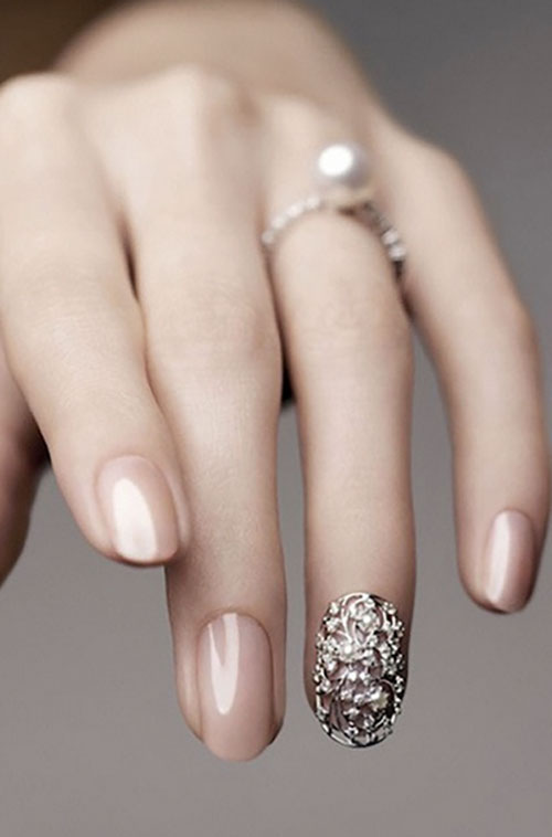 11 Bridal Nail Art Designs So Killer, You Can Flaunt Your Ring With ...