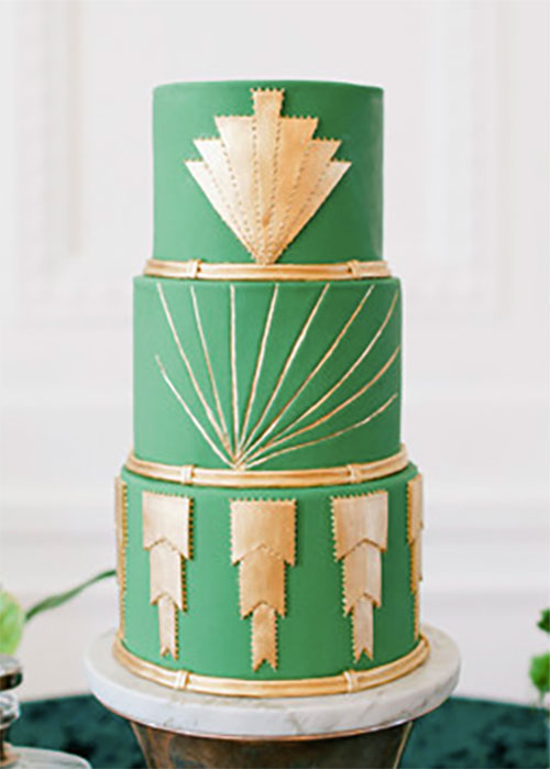 These 11 Art Deco Wedding Cakes are Something to Roar About ...